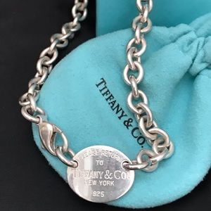 Tiffany Return to Me Oval choker necklace